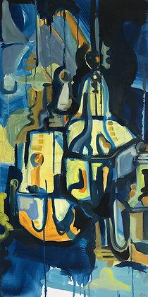 'Three Lanterns' Oil Painting