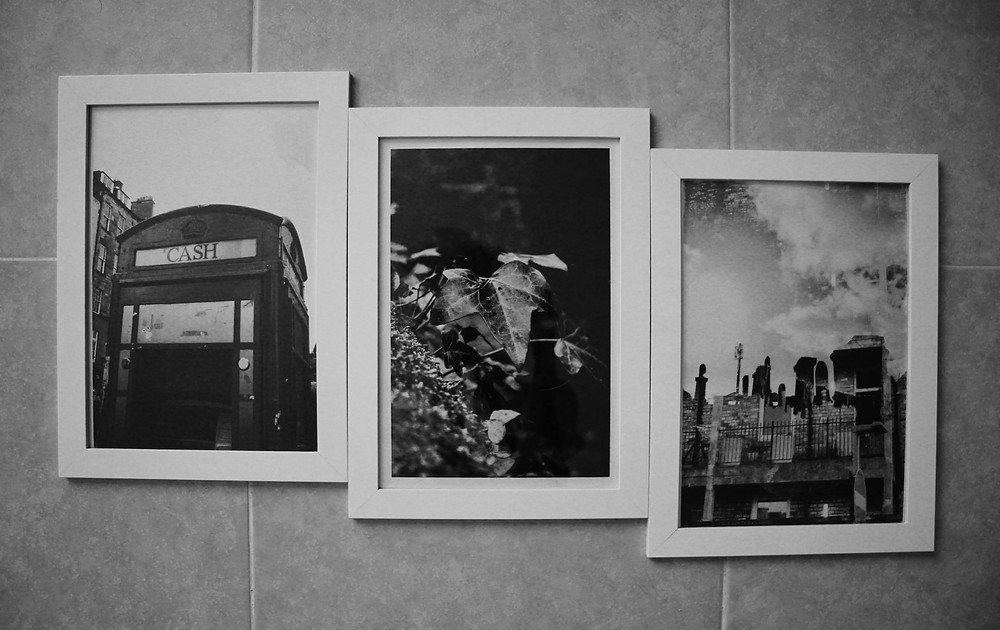 'Telephone Box', 'Ivy', 'Washing Line' A4 Prints