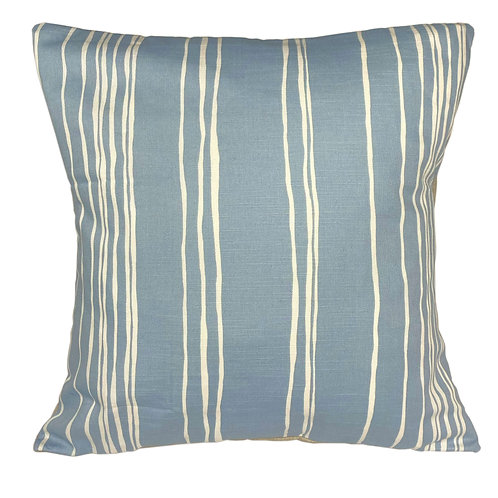 "Envelope Cushion 50cm (20""), Cerulean relaxed stripes"