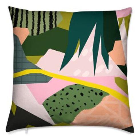 Bespoke Cushion, Abstract Tropics3