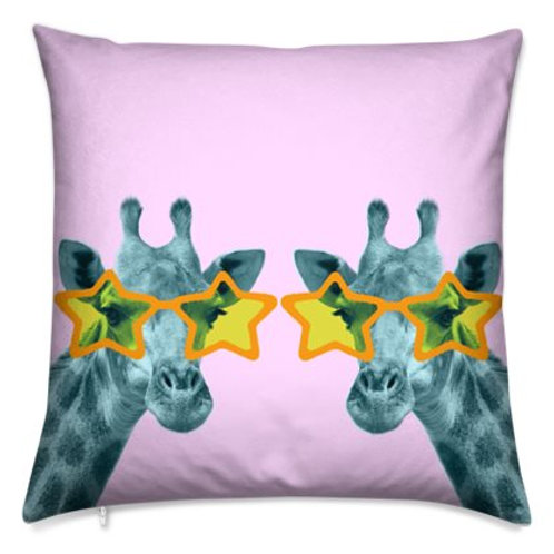 Luxury Bespoke Cushion, Funky Giraffes