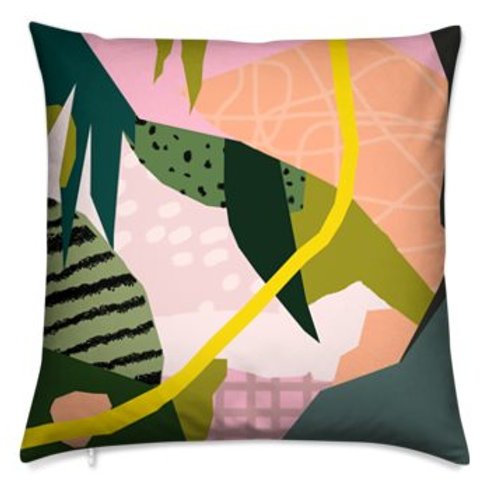 Bespoke Cushion, Abstract Tropics 2