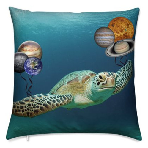 Luxury Bespoke Cushion, Turtle Galaxy