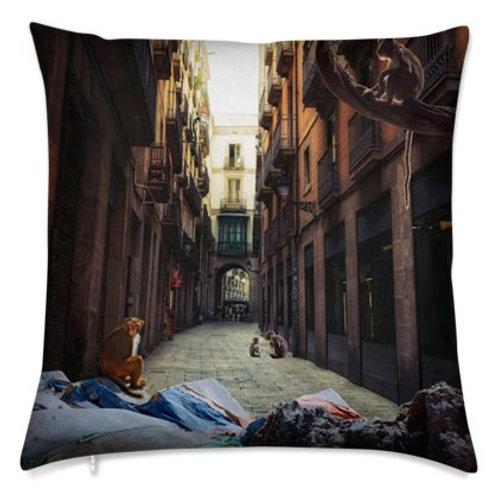 Luxury Bespoke Cushion, Monkey Street