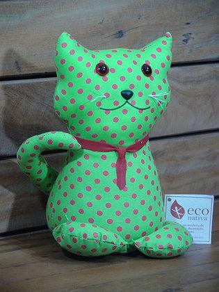 Peso para Porta Gato Sentado em Algodão Verde