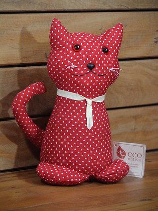 Peso para Porta Gato Sentado em Algodão Vermelho