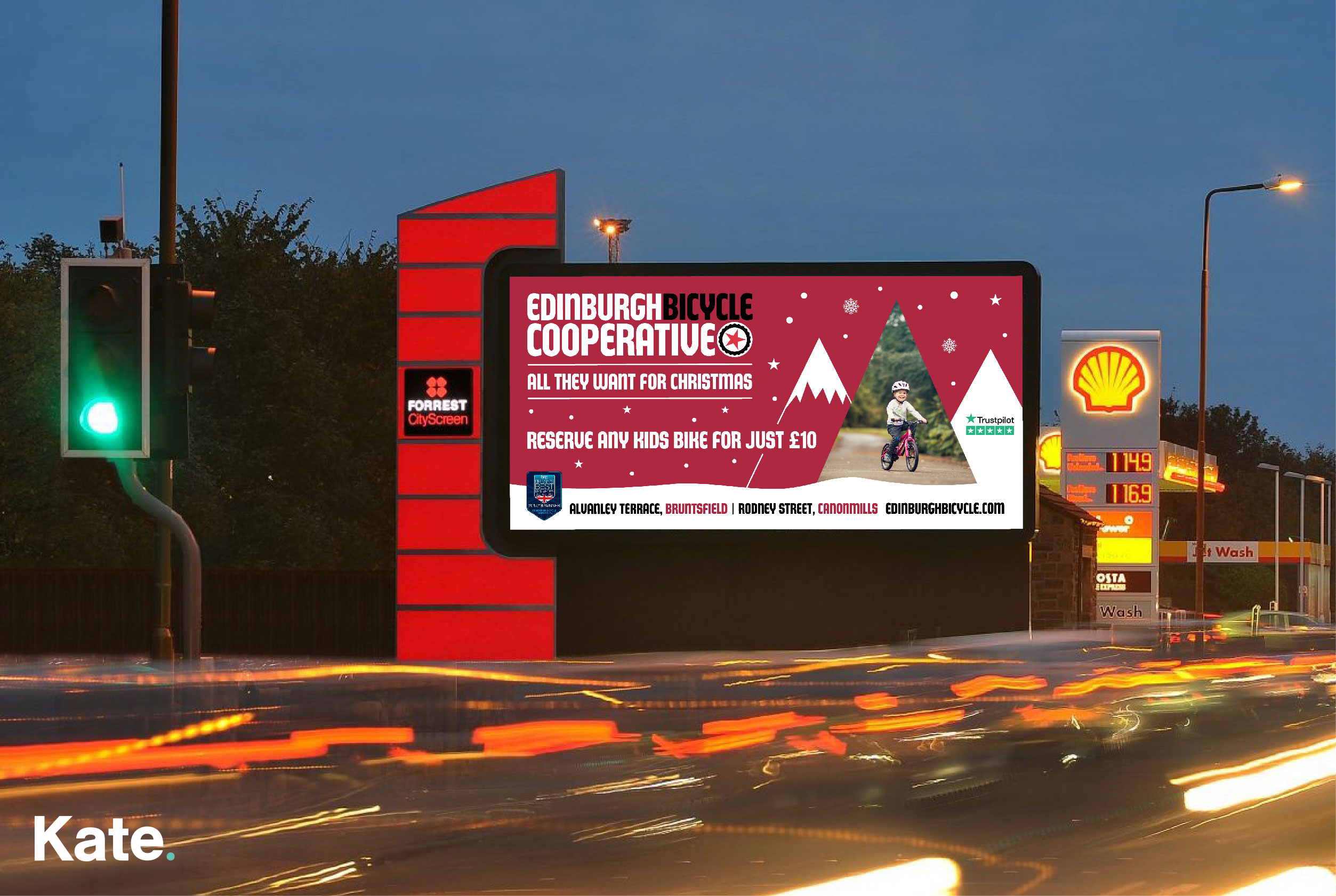 Edinburgh Bicycle Cooperative - Digital Billboard