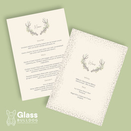 Bespoke stag wedding menu