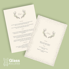 Bespoke stag wedding menu