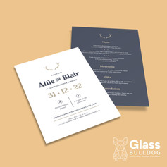 Classic stag wedding invitation