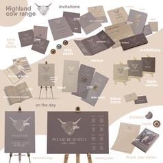 Highland Cow Wedding stationery range