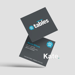 Let's talk tables business cards