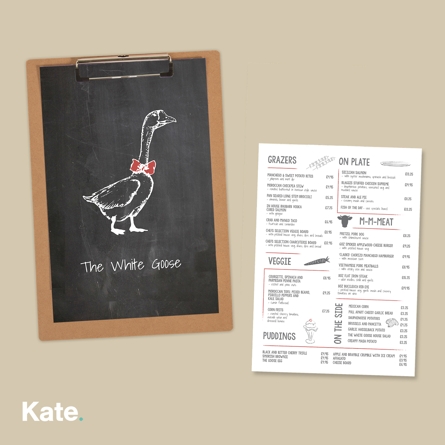 The White Goose - Food Menu