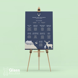 Bespoke Edinburgh Castle table plan