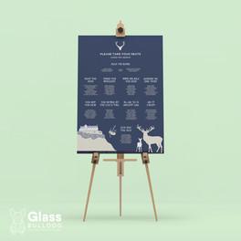 Bespoke Edinburgh Castle table plan