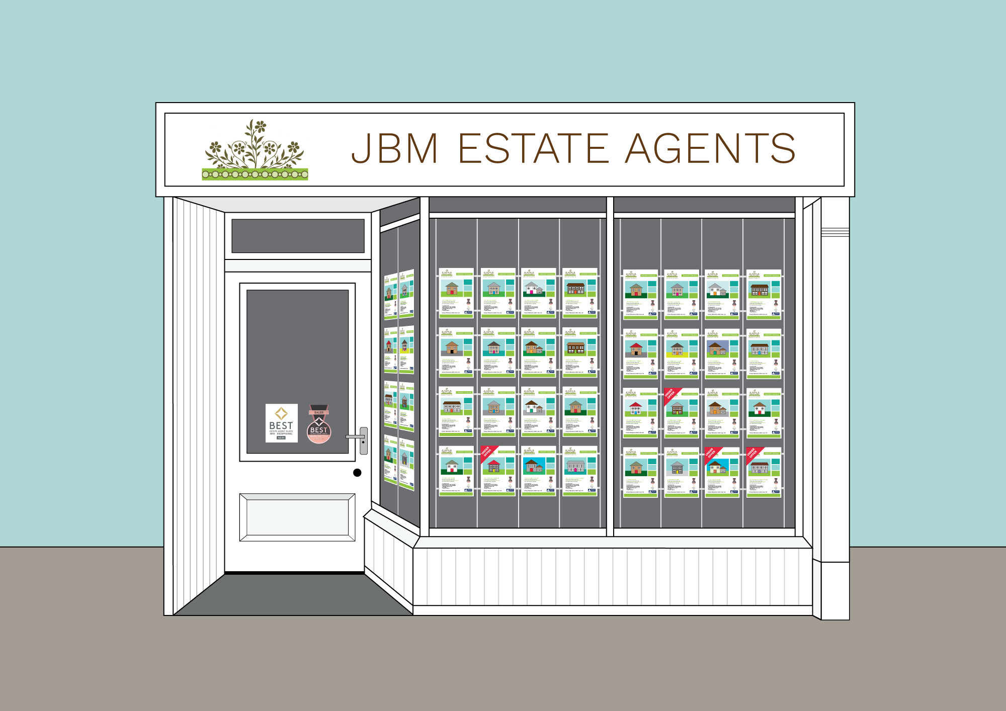 JBM Estate agents - Bespoke Graphic
