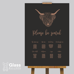Highland cow seating chart