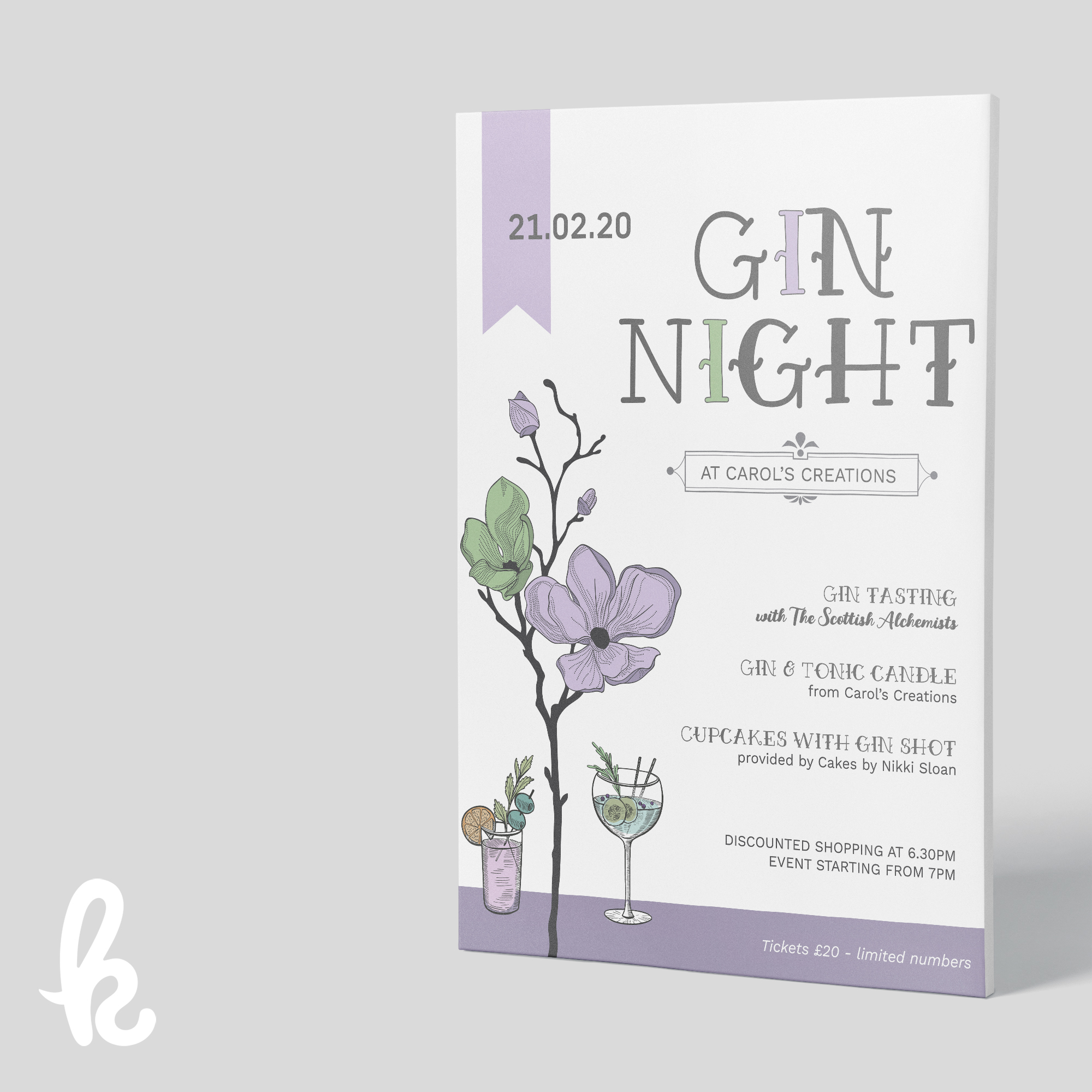 Gin tasting event - Poster