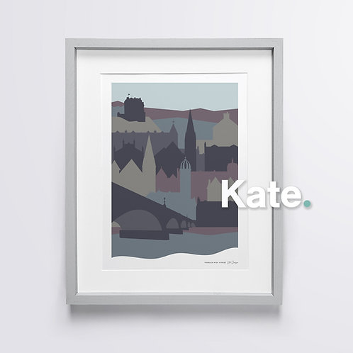 Peebles silhouette print (twilight)