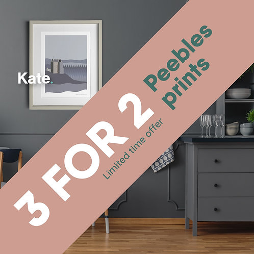 3 for 2 - Peebles prints