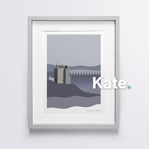 Original Neidpath Castle print