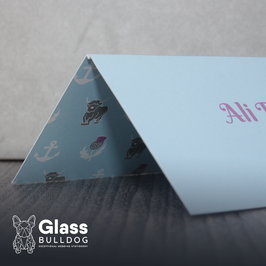 Bespoke double sided place card