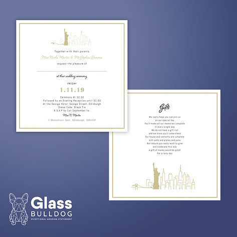 New York city wedding invitation