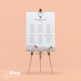 Bespoke stag table plan