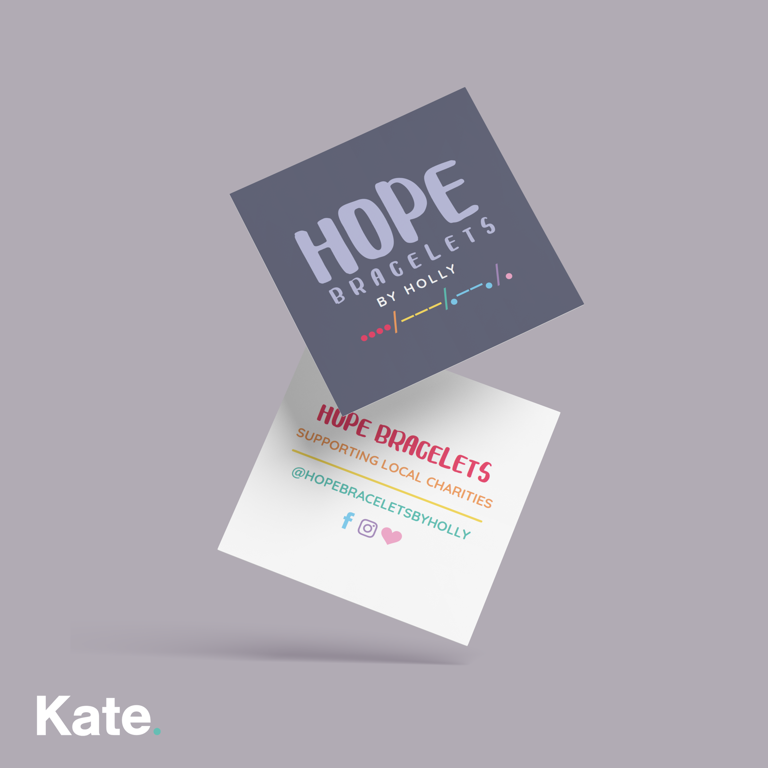 Hope bracelets logo and business cards