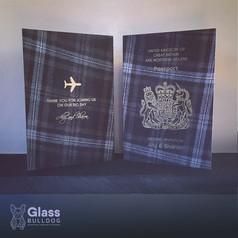 Foiled wedding passport invitation