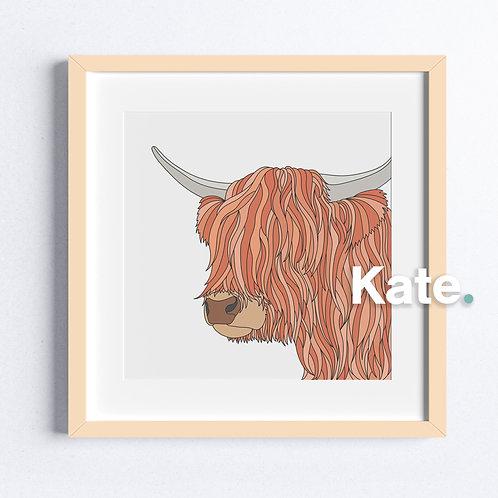 Original Highland cow print