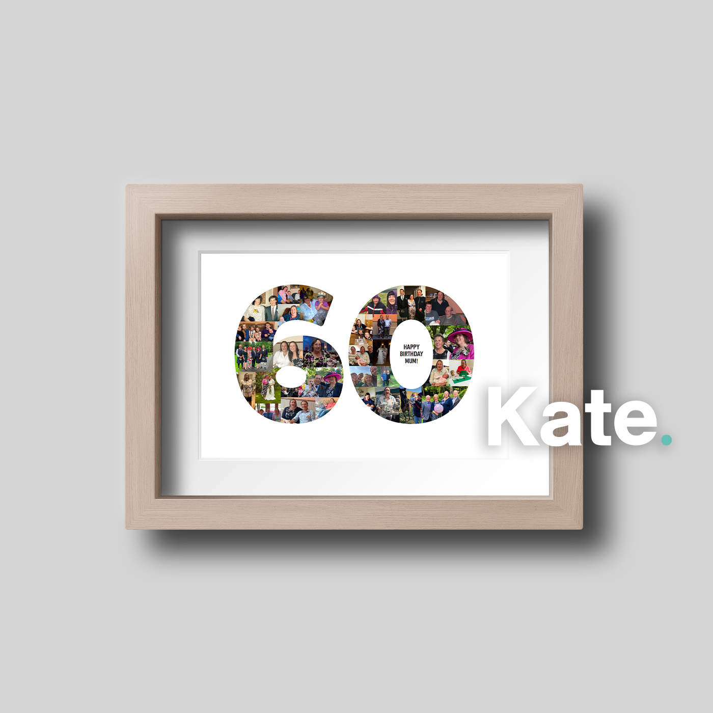 Bespoke 60th Birthday print