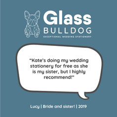 Glass Bulldog review Lucy 2019