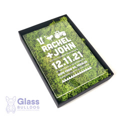 Bespoke acrylic wedding invitation
