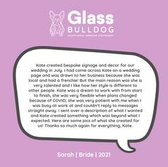 Glass Bulldog Wedding stationery review - sarah