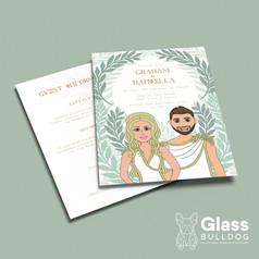 Bespoke cartoon wedding invitation