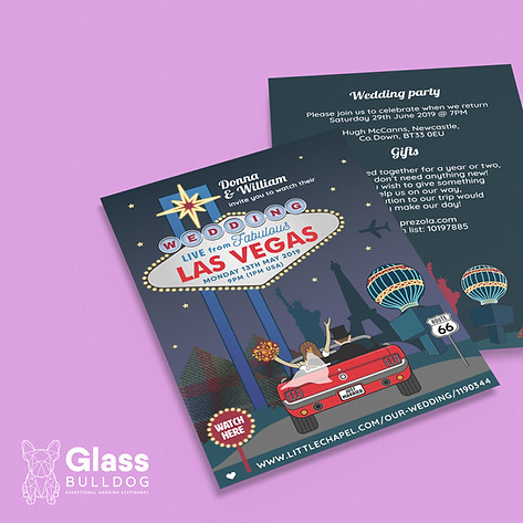 Bespoke Las Vegas wedding invitation