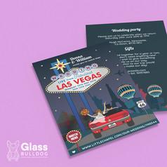 Bespoke Las Vegas wedding invitation