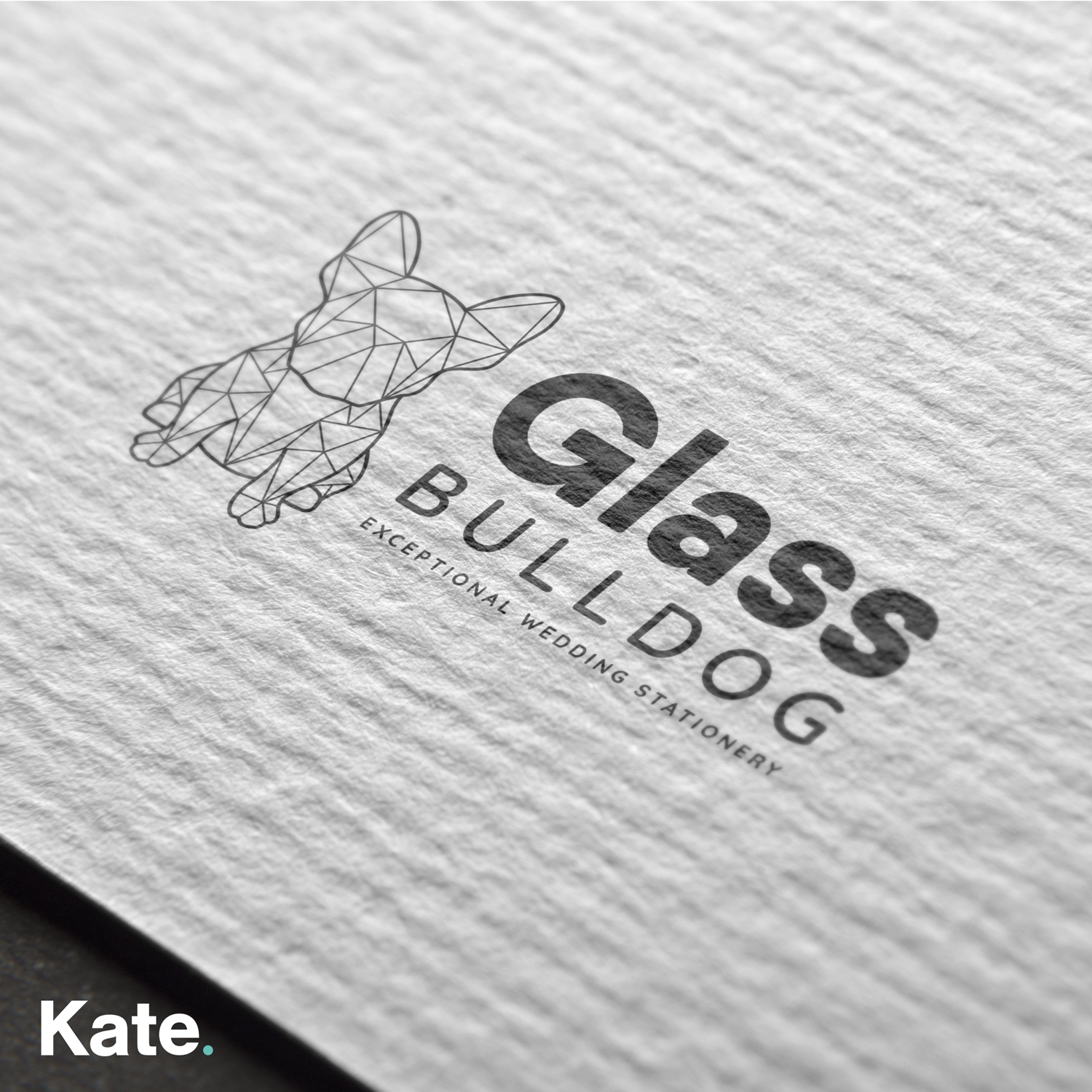 Glass Bulldog - Compliment slip