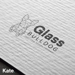 Glass Bulldog - Compliment slip