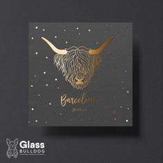 Foiled highland cow table name