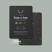 Stags and stars invitation
