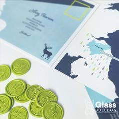 Bespoke printed envelope and wax seals