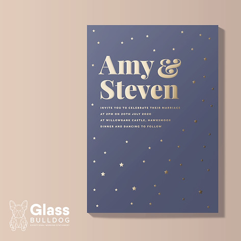 Starry Night wedding invitation