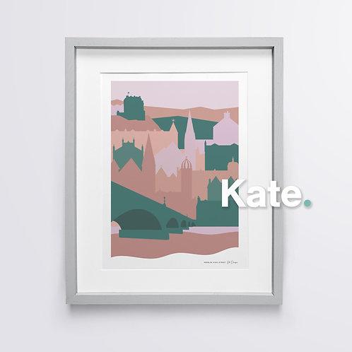 Peebles silhouette print (soft forest)