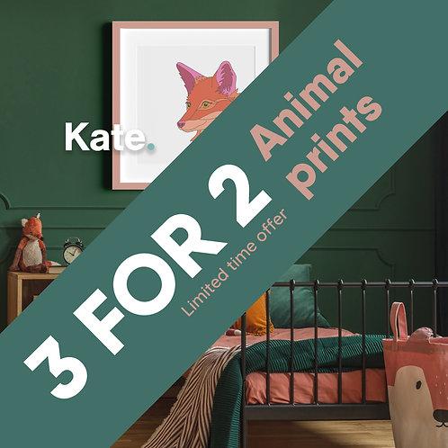 3 for 2 - All animal prints
