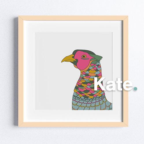 Original Teal Pheasant print