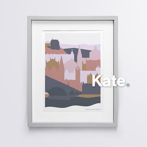 Peebles silhouette print (cosy)