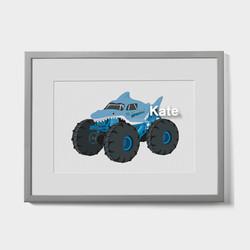 Bespoke Megalodon Monster Truck print