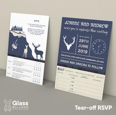 Bespoke Scottish wedding invitation